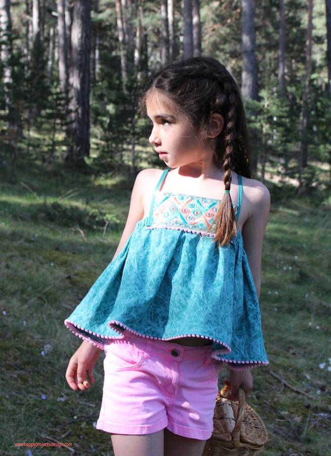 diy coser blusón niña con galón