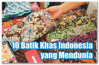 batik khas indonesia