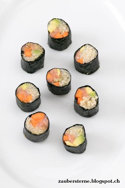 Quinoa Rezepte, Sushi selber machen, Gemüse Sushi, gesunde Sushi, Sushi Rezept