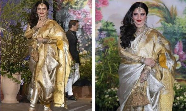 rekha at sonam kapoor wedding