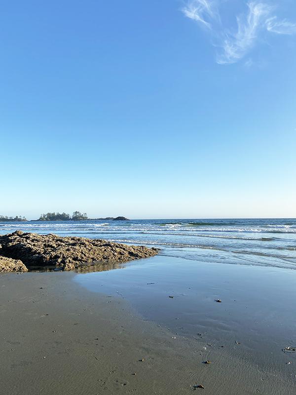 Chesterman Beach, Tofino, BC on a sunny day