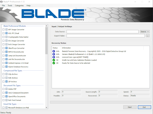 Blade Forensic Data Recovery Professional