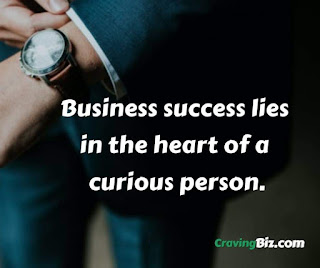 Business success lies in the heart of a curious person..