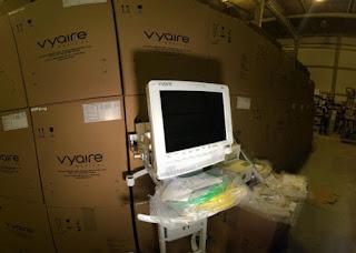 PB recebe 84 ventiladores pulmonares que estavam retidos pelo MS