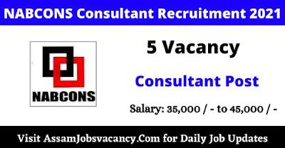 NABCONS Consultant Recruitment 2021