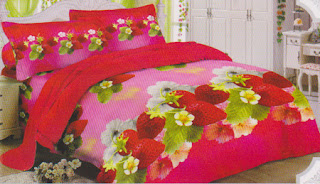 Sprei Lady Rose Straberry