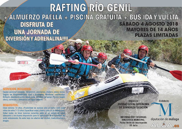 Rafting en el Río Geníl desde Bobadilla
