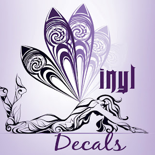 promote your art with vinyl decals, post vinyl decals on car, promote your work and be super creative, girl with butterfly wings vector visualartzi