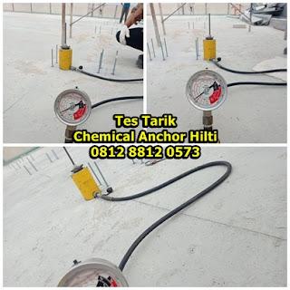 Tes Tarik (Pull Out Test) Chemical Anchor Hilti HIT RE 100