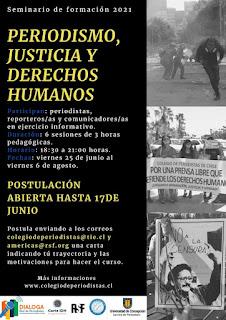 """Están abiertas las inscripciones al seminario de formación: """"Periodismo, Justicia y Derechos Humanos"""""""