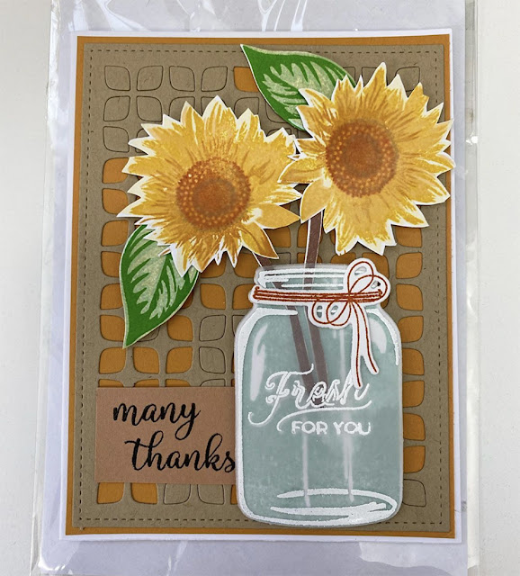 Sunny Studio Stamps: Sunflower Fields Frilly Frame Dies Customer Card by Create with Clarissa