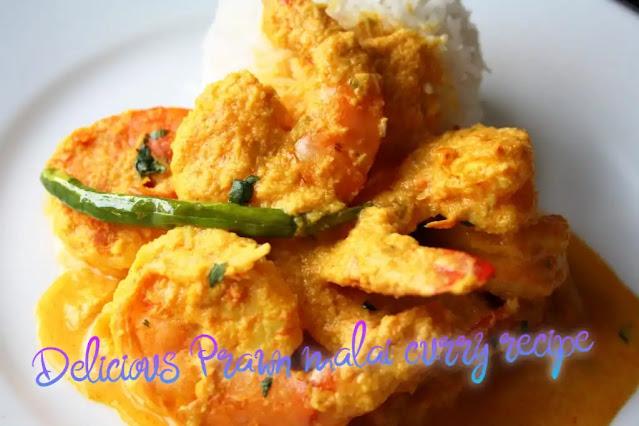 Delicious Prawn malai curry recipe or Chingri malai curry