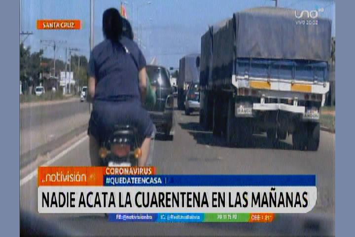 VIDEO: En Santa Cruz nadie acata la cuarentena por las mañanas