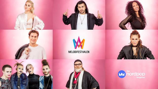 Participantes de la segunda semifinal del Melodifestivalen 2017