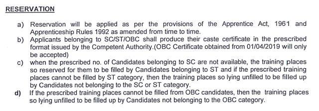 Reservation in 303 Apprentice Recruitment in Western Coalfields