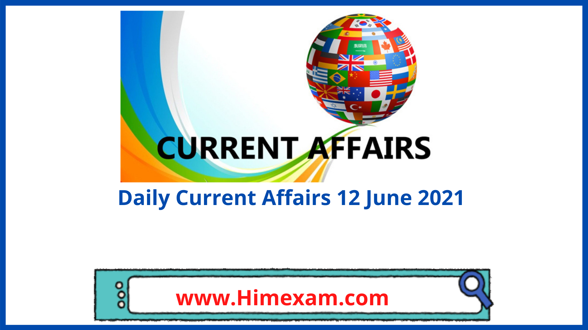 Daily Current Affairs 12 June 2021 In Hindi