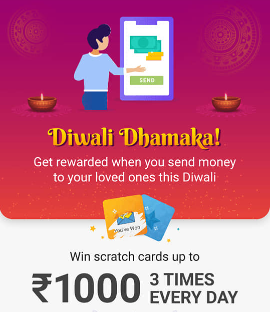 Phonepe Diwali Dhamaka Offer: Earn Up to Rs.3000 Scratch Card Daily