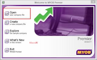 Cara Membuka File dan Menutup File di Myob