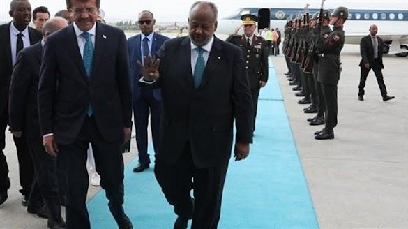 Hadiri Pelantikan Erdogan, Presiden Djibouti Angkat Simbol 4 Jari (Rabiah)