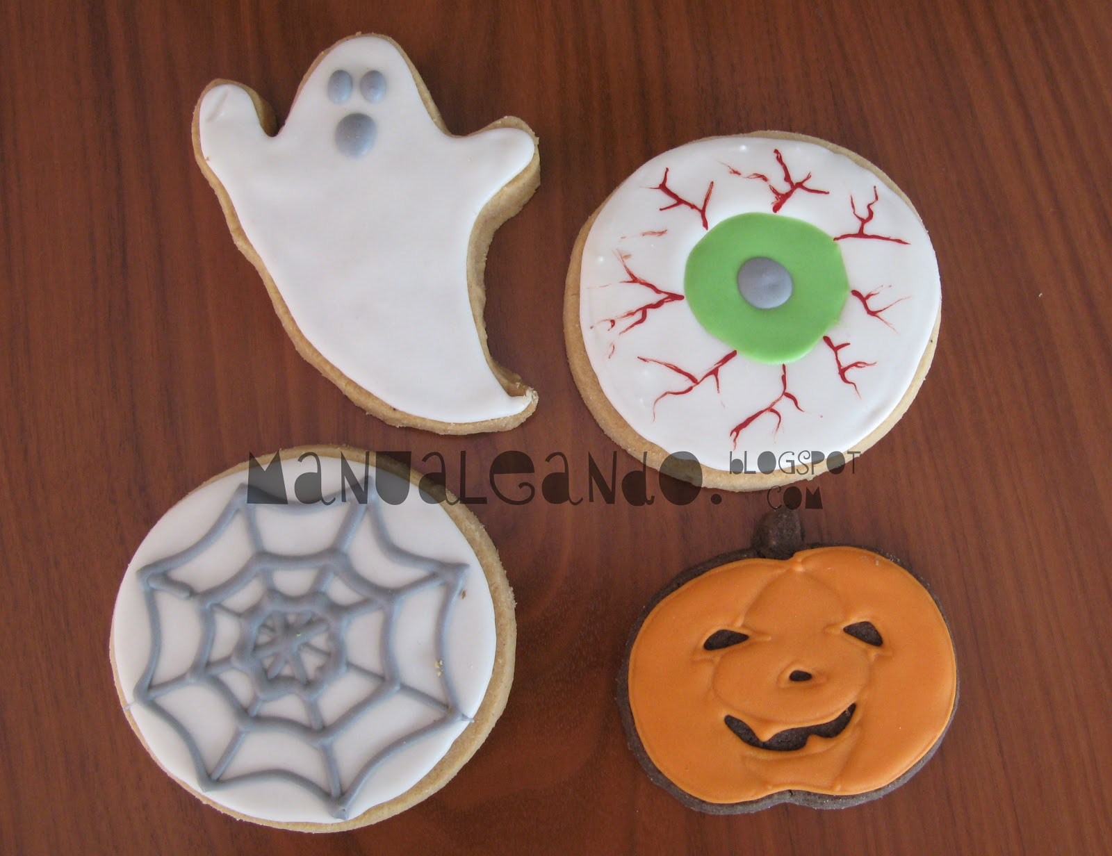 Galletas Decoradas Hallowen Manualeando Galletas De Halloween Decoradas Con Glasa