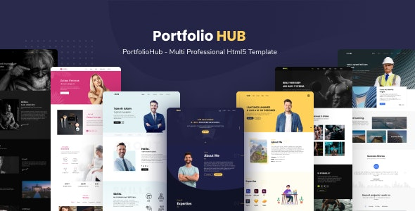 Modern Design Multi Professional Portfolio Template