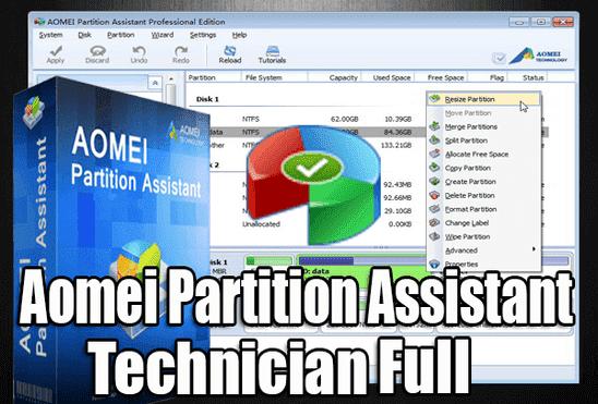 تحميل وتفعيل برنامج Aomei Partition Assistant Technician عملاق تقسيم الهارد ديسك