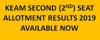 KEAM Second Allotment Results 2019 Available Now CEE Kerala 2nd Phase Allotment 2019 1