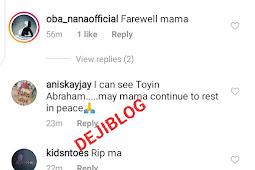 """Priscilla Improve On Your Reading"" - Fan Blast Iyabo Ojo's Daughter At Her Grandma's Wake Keeping"