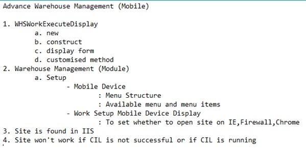 Advance Warehouse management (Mobile) Ax 2012