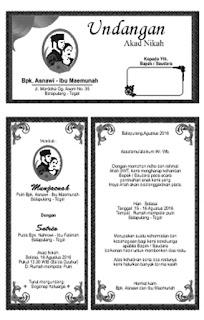 desain undangan akad nikah satria