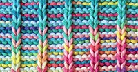 Stripes Slip Stitch Pattern - Hand Knitting Stitches - Knitting Tutorial