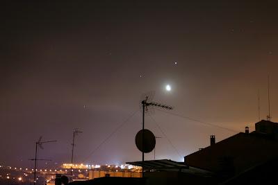 Lluna, Júpiter, Saturn i Mart - 15/04/2020