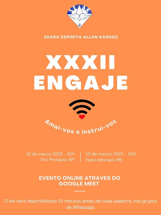 XXXII - ENGAJE - Link de acesso às palestras pelo Google Meet
