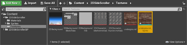 Texture folder with new sprite