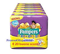 Logo Concorso ''Trova il buono sconto Pampers da 20€ '': 200 premi in palio