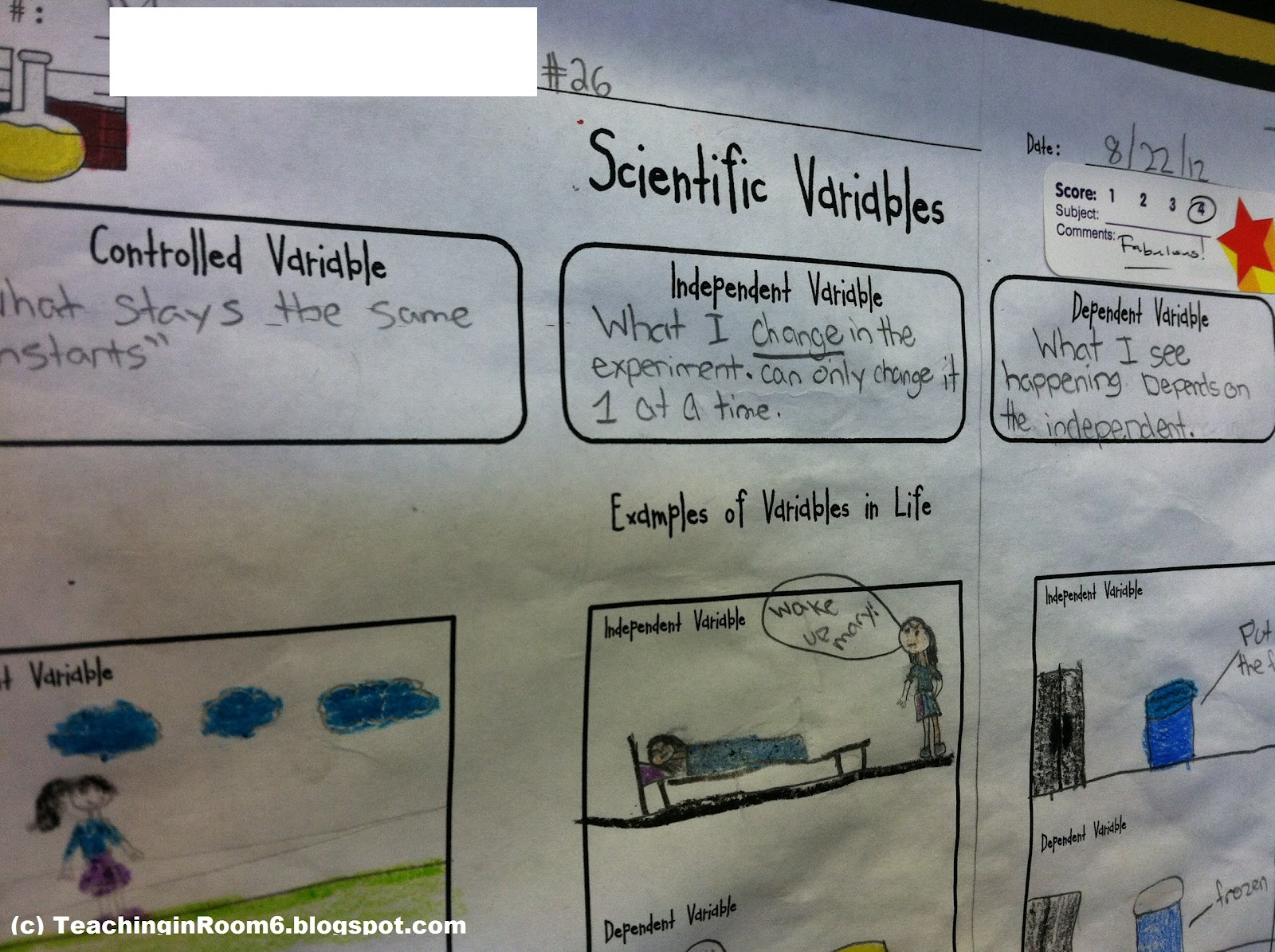 Independent and Dependent Variables in an Experiment...Say what???    Teaching in Room 6 [ 1195 x 1600 Pixel ]
