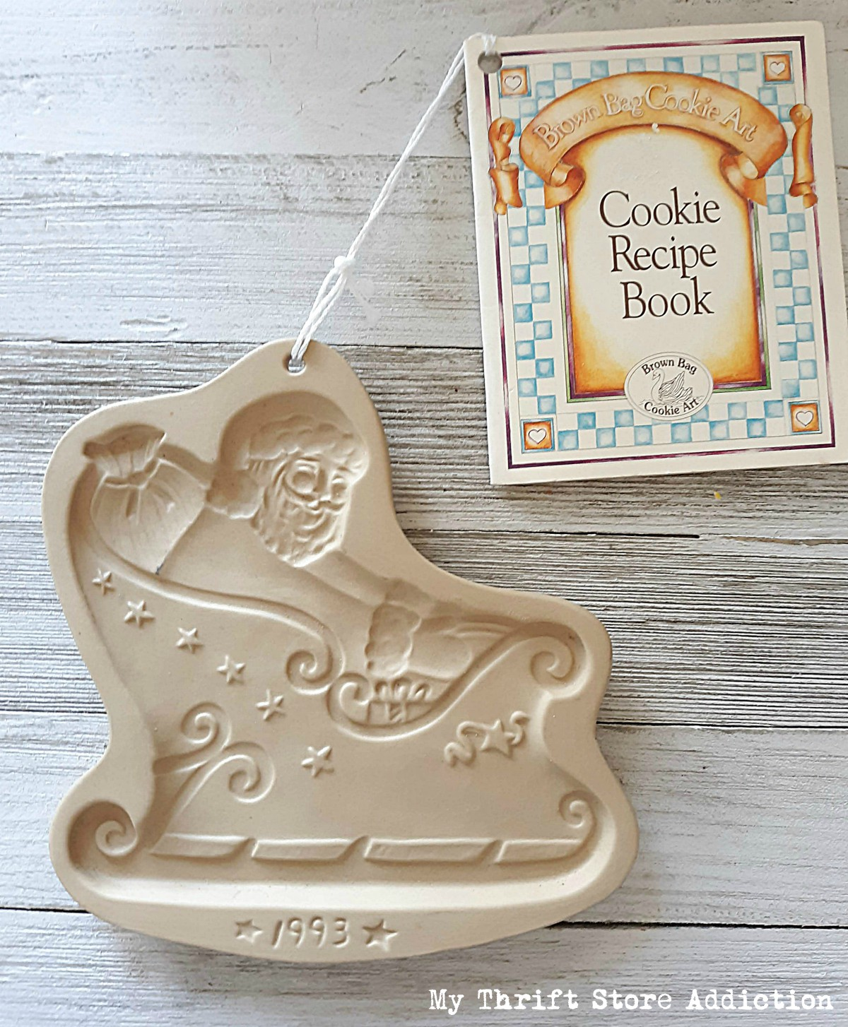 vintage Santa cookie mold