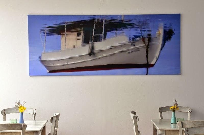Φωτογραφία μας διαστάσεων 2,15 Χ 0,85 μ. στο Εστιατόριο 'Γαστροναύτης' στα Κουφονήσια
