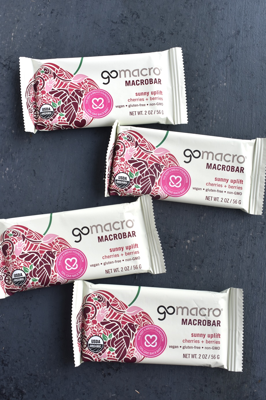 GoMacro Cherries + Berries Bars