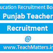ERB Punjab Teacher Recruitment 2017 : Apply for 3582 English/Hindi/Punjabi/Maths/Social Science Master Cadre Teachers Posts @ educationrecruitmentboard.com
