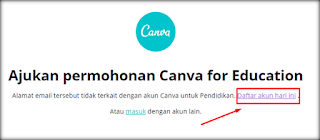 Pengajuan Canva for Education
