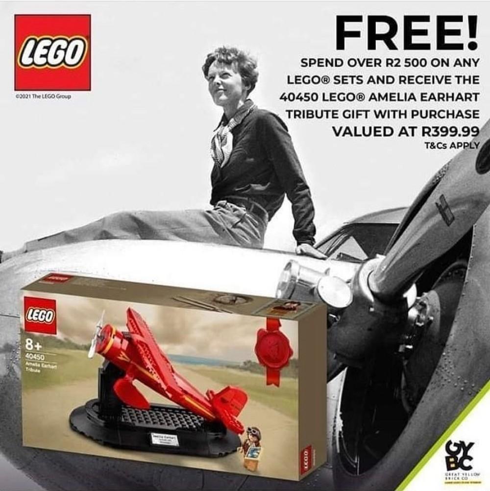 レゴで女性飛行士アメリア・イアハート・トリビュート40450がまもなく登場:購入者プレゼント(2021)