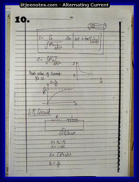 alternating current notes