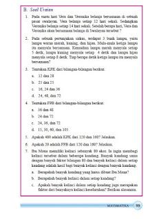 kunci jawaban matematika kelas 7 smp/mts semester 1 halaman 99