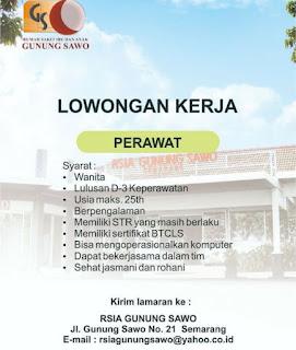 Karir Lowongan Kerja RSIA Gunung Sawo Semarang Terbaru 2020