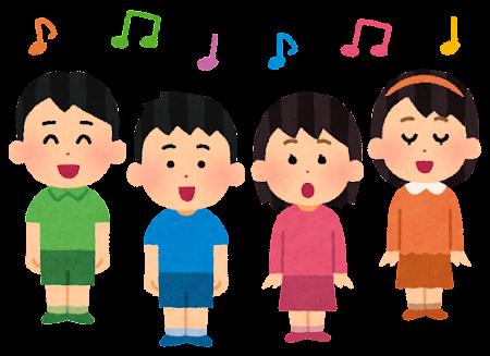 子供の合唱のイラスト