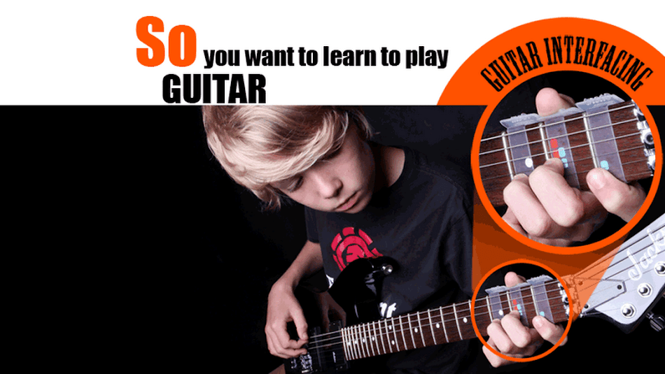 Learn to play the guitar by a professional guitarist sitting at home!