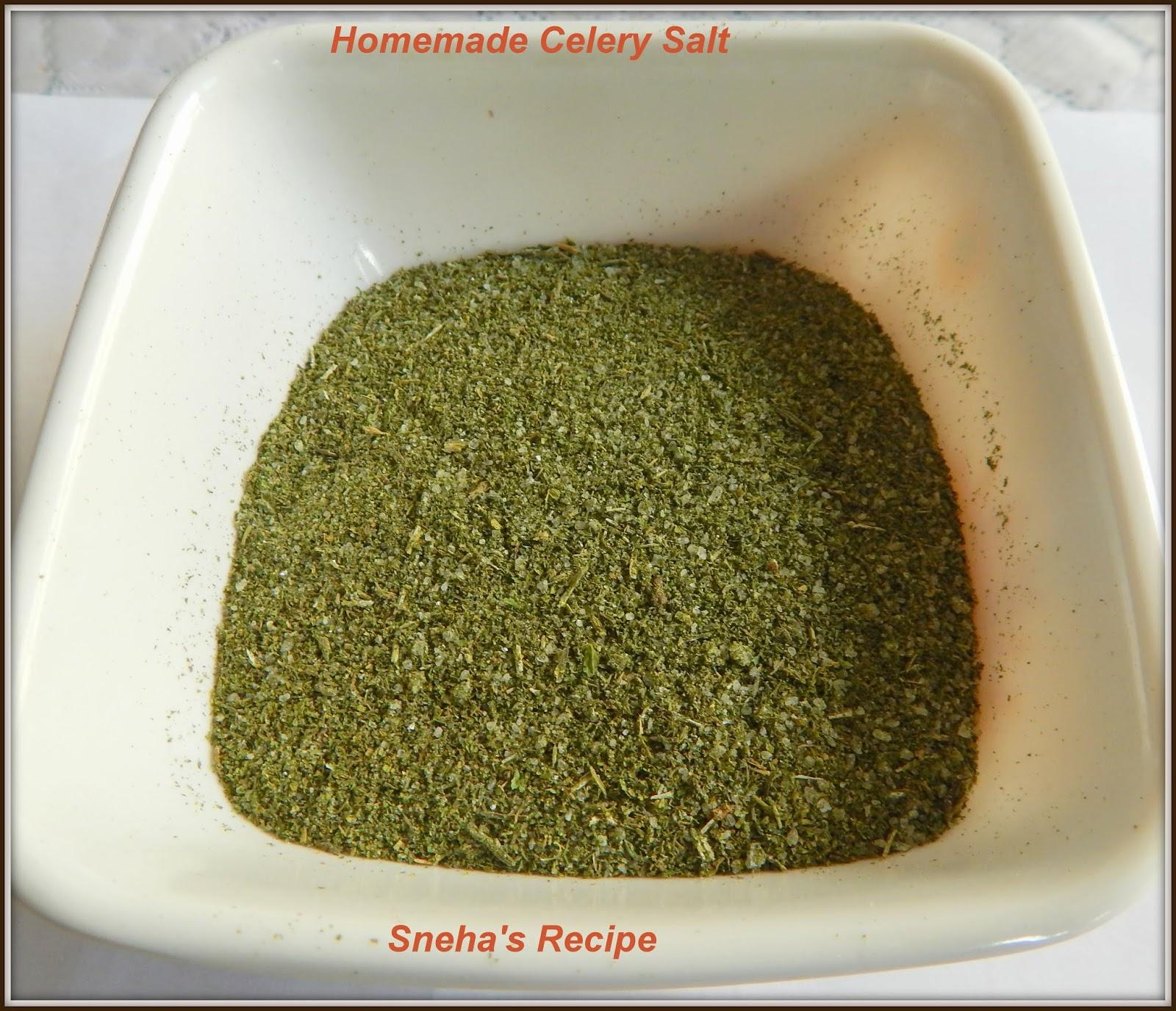 Homemade Celery Salt Foodieextravaganza Sneha S Recipe