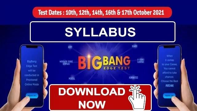 FIITJEE Syllabus for BIG BANG