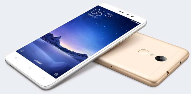 Gambar Xiaomi Redmi Note 3, white and gold